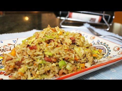 Como hacer arroz chino - YouTube