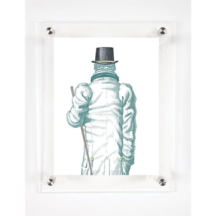 "Mitchell Black The Gentleman Decorative Framed Wall Canvas Soft Sage (12""x15"")"