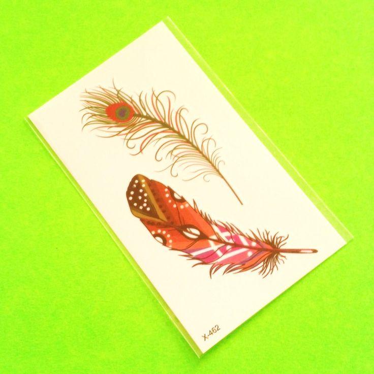 Tribal Feathers Temporary Tattoo