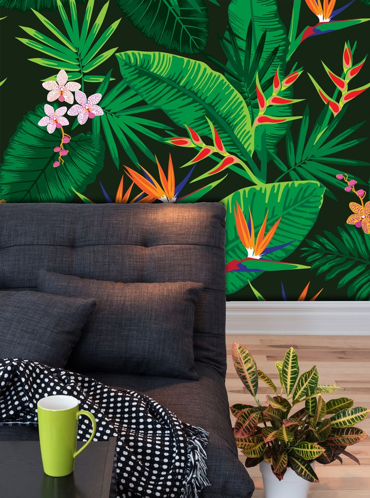 Brazilian Pattern - Tropical Floral Wall Tissue
