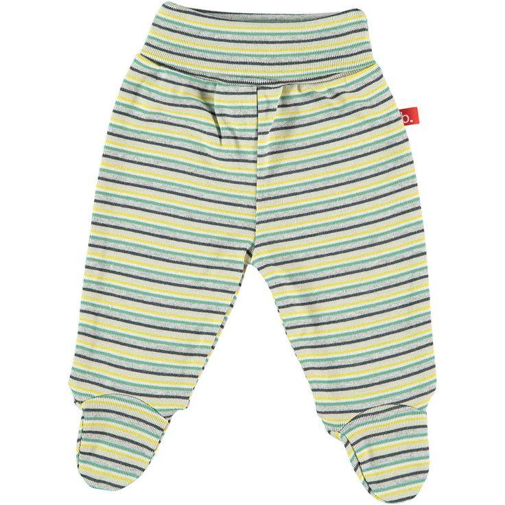 LIMOBASICS-Pantaloni con piedini a strisce Verde – RocketBaby.it