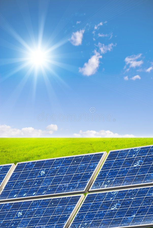 Clean Energy Concept Green Landscape With Solar Cell Aff Concept Energy Clean Green Cell Ad Solar Uses Of Solar Energy Solar Energy System