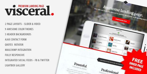 Visceral - Premium Multipurpose Landing Page