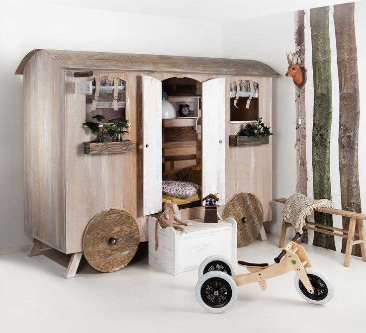 Cama-'roulotte' para habitación infantil ♥ Fun caravan bed for children bedroom