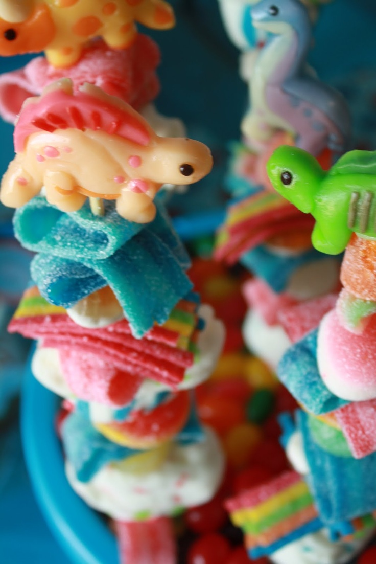 gummy kabbobs - so gross and bad for them, yet so cute!lol
