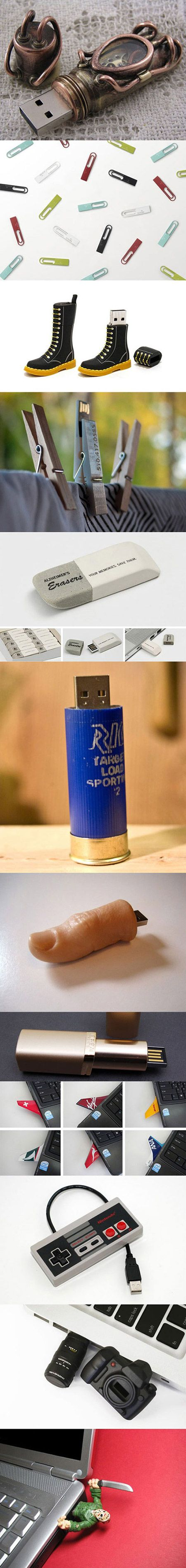 Here are some unusual USB flash drives that geeks would love.