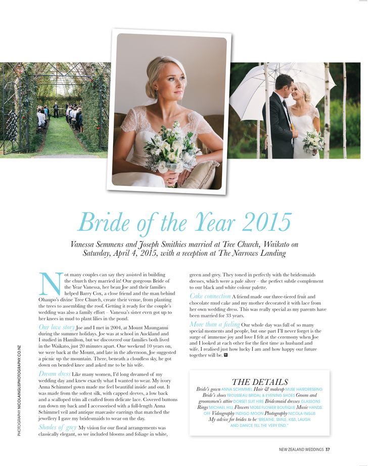 Have you received the newest New Zealand Weddings Magazine yet?  Check out the gorgeous spread on page 37. Our beautiful and truly lovely bride Vanessa...