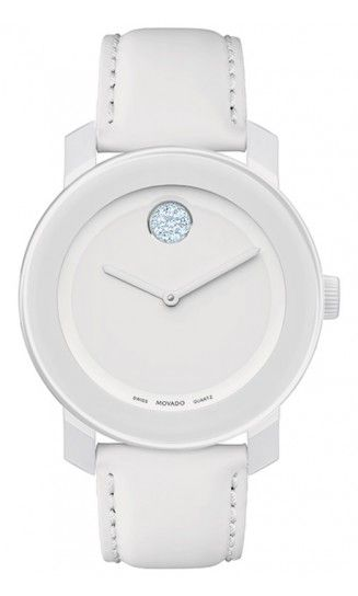 Movado Bold Model 3600043 in all white is an awesome pick for summer!
