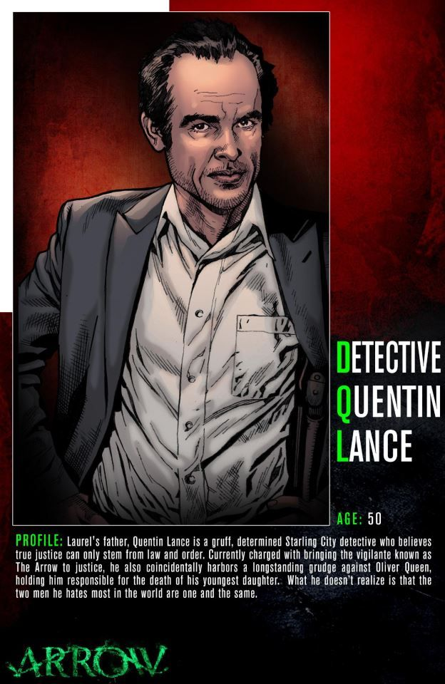 Meet Quentin Lance, a Starling City detective who is the hunt for Arrow. Don't miss an all-new episode of Arrow Wednesday at 8/7c on The CW!