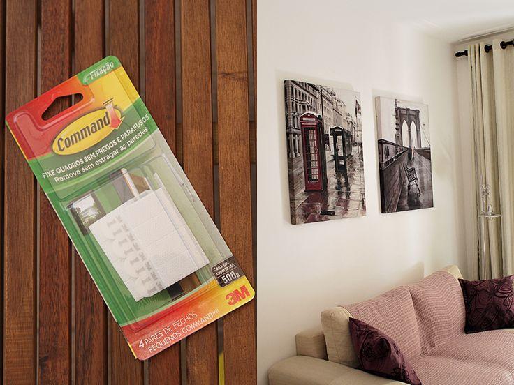 Pendurar quadros sem furar a parede