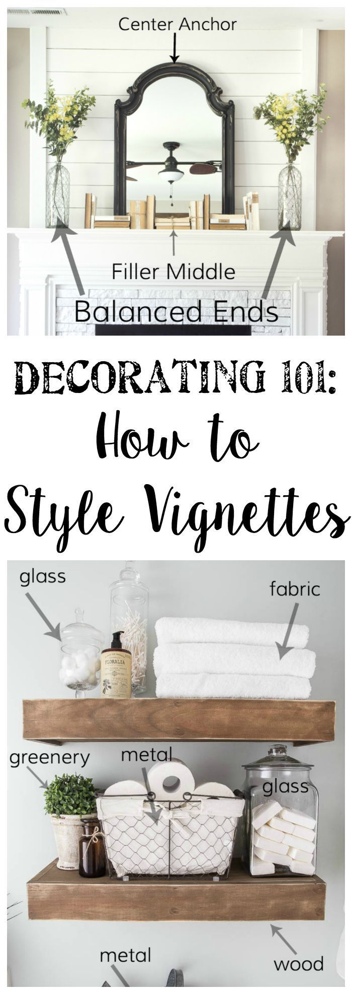 Decorating 101 - Vignette Styling