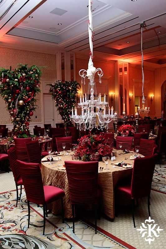 Chandeliers and upside down christmas trees special