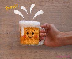 Bierkrug häkeln – kostenlose Anleitung zum Oktoberfest