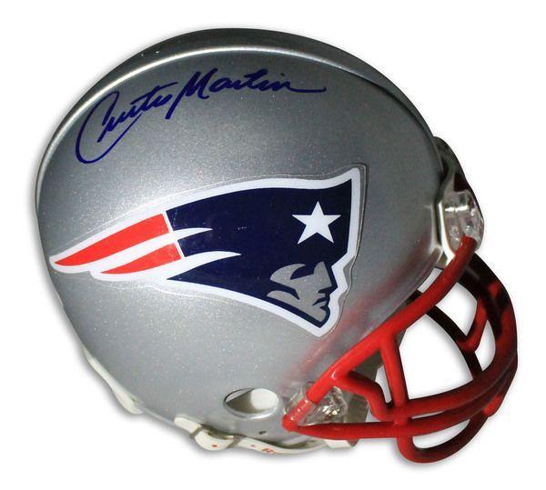 Curtis Martin New England Patriots Autographed Mini Helmet
