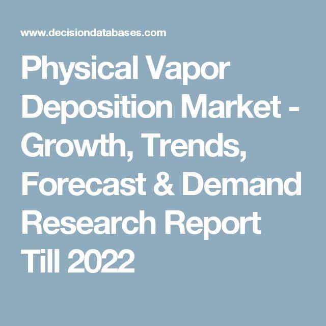 Physical Vapor Deposition Market - Growth, Trends, Forecast & Demand Research Report Till 2022