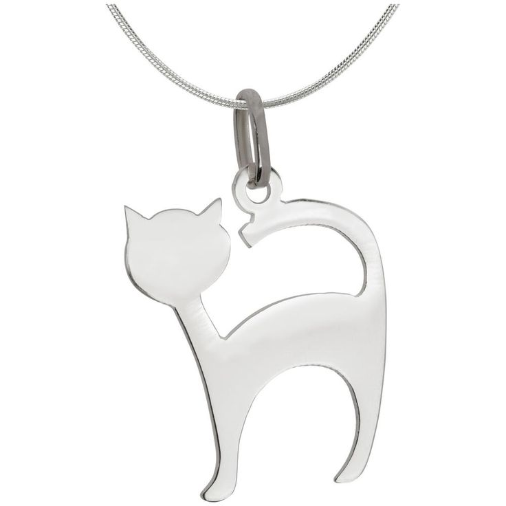 Cat hair on your clothes isn't the only way to show your cat lady status! Boasting a sleek, sterling silhouette, this charming pendant is the ultimate feline friendly accessory.