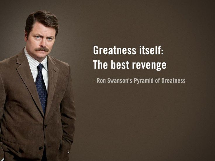 Pin on words.  Ron Swanson Quotes Salad
