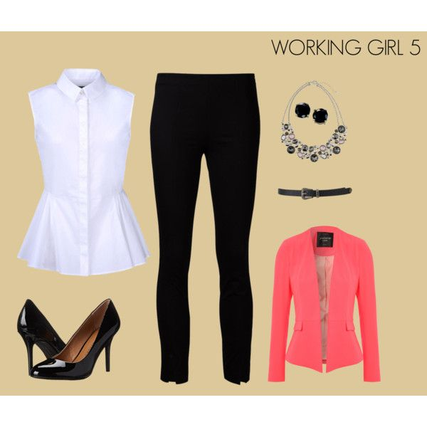 WORKING GIRL 5 by marisol-fernandez-zumba on Polyvore featuring polyvore fashion style McQ by Alexander McQueen Jane Norman The Row Chinese Laundry White House Black Market B. Brilliant Forever 21