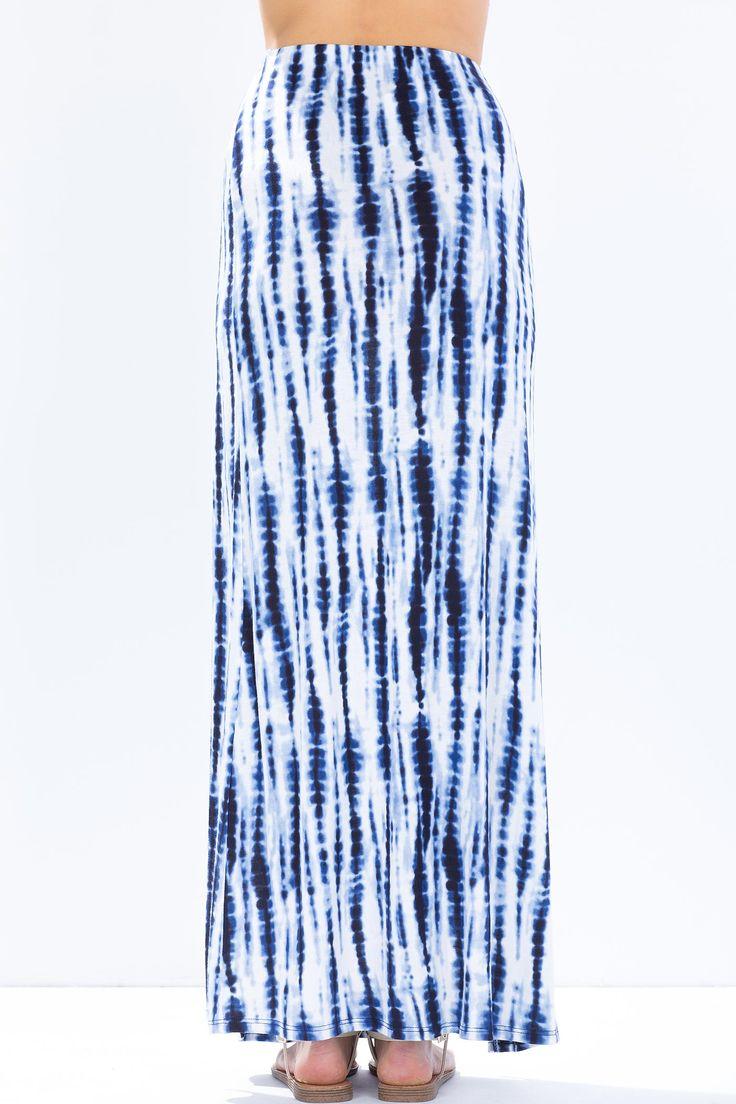 Юбка-макси Размеры: S Цвет: синий с принтом Цена: 407 руб.  #одежда #женщинам #юбки #коопт