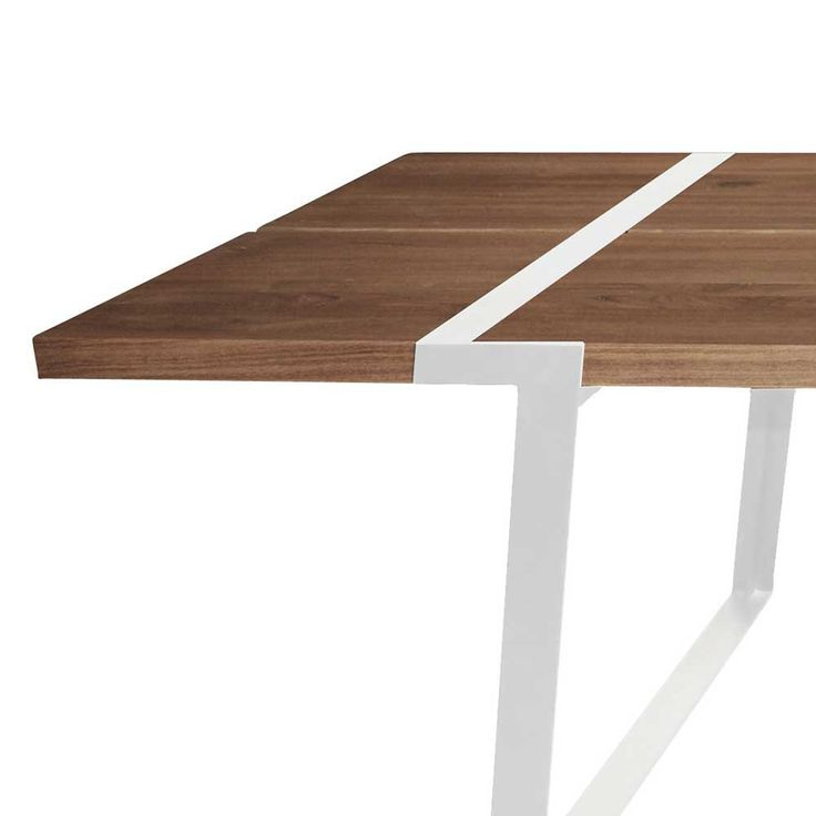 Esstisch Eiche Tischplatte Weiße Tischbeine, Tisch Massiv Eiche Metall  Weiß, Maße 240 X