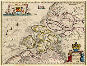 Antique Zeeland map