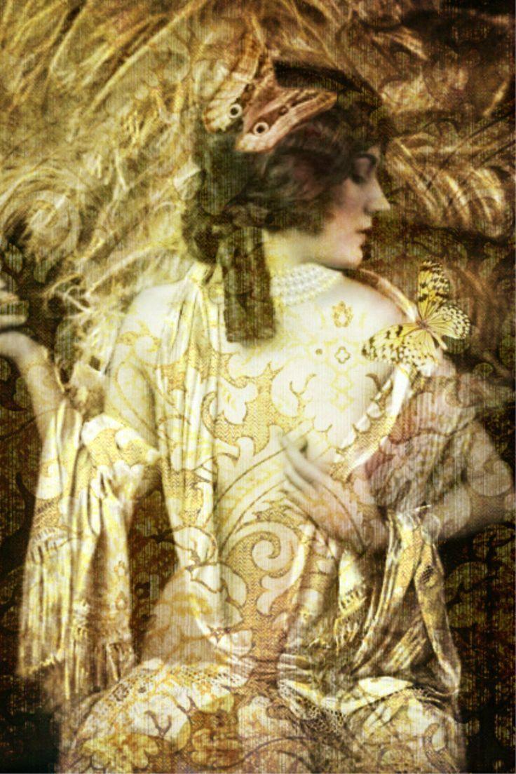 Art Print ,Photo Print,Vintage image altered art,1920s,Ziegfeld Follies dancer. by DemiArtDemi on Etsy