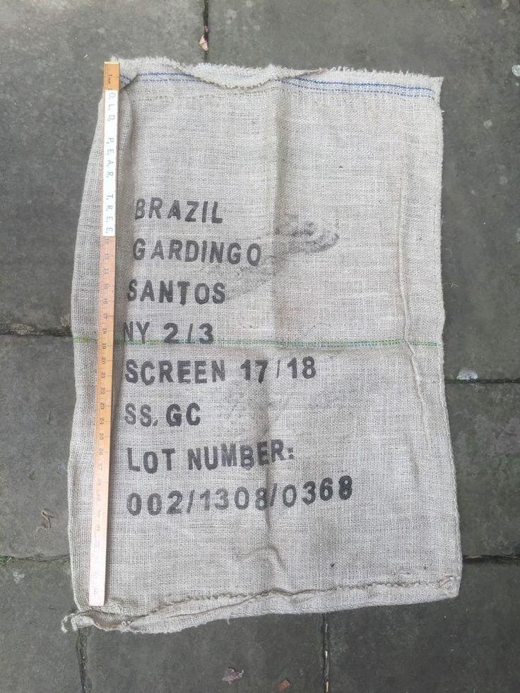 Job Lot Coffee Beans Sacks 3 Jute Hessian Colombia Brazil Cafe Upholstery Craft | eBay