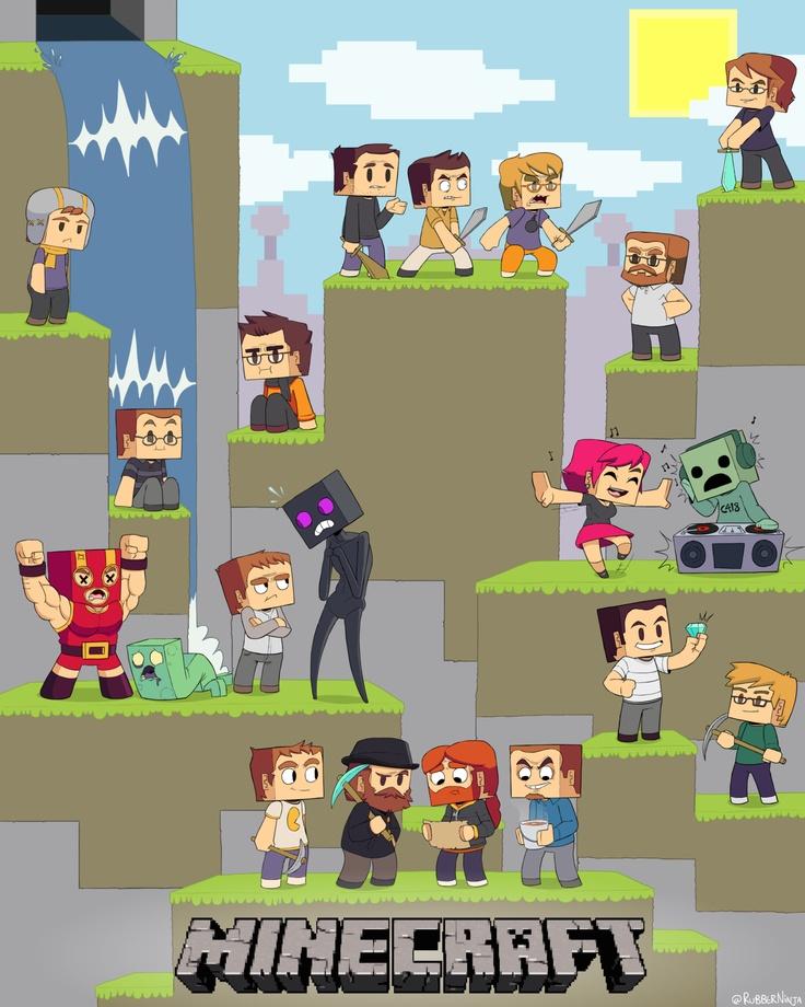 Rubberninja Animation - Mojang employees illustration!Geeky Gem, Employee Illustration, Contest Things, Art Contest, Mojang Employment, Minecraft Style, Mojang Employee, Employment Illustration, Mojang Art