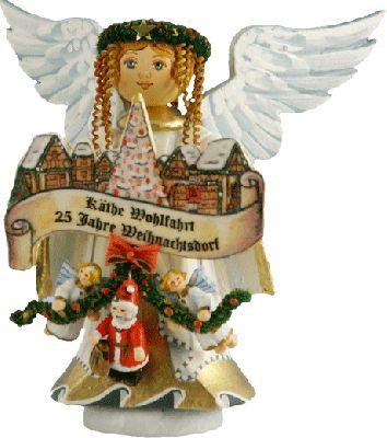 """Sammlerfiguren Jubiläumsengel """"25 Jahre Weihnachtsdorf"""""""