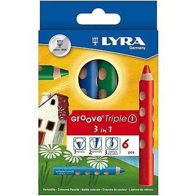 Lyra #groove triple1 #triangular #pencils drawing art 6 colours lead:10 mm l:12 c, View more on the LINK: http://www.zeppy.io/product/gb/2/122070625466/
