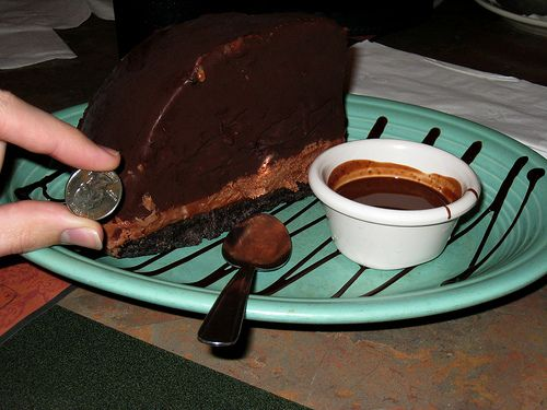 Steak out death by chocolate cake