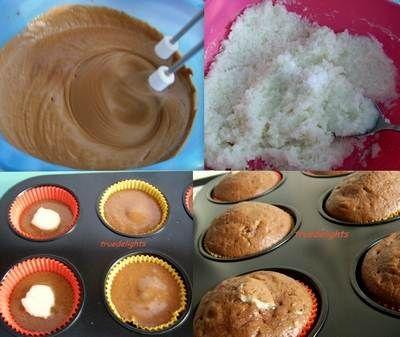 Briose cu crema din nuca de cocos