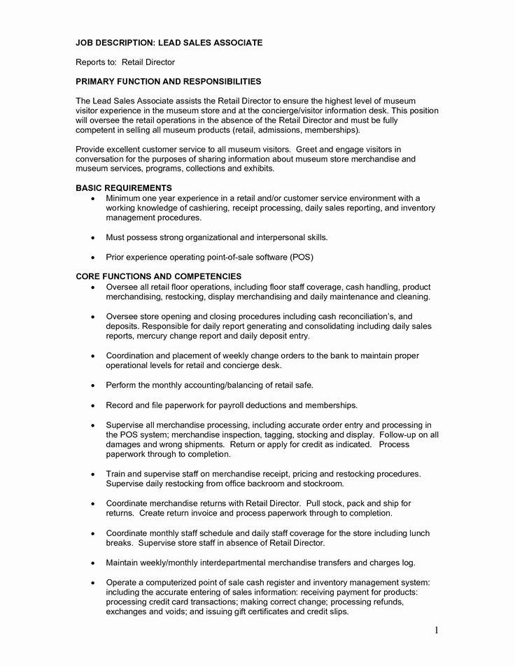 23 Merchandiser Job Description Resume in 2020 Job