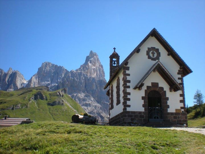 """""""Chiesetta a Passo Rolle"""" - Trentino - © Lilly Del Bo - our Facebook fan"""