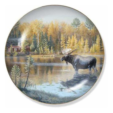Wild Wings The Loner Moose Decorative Plate