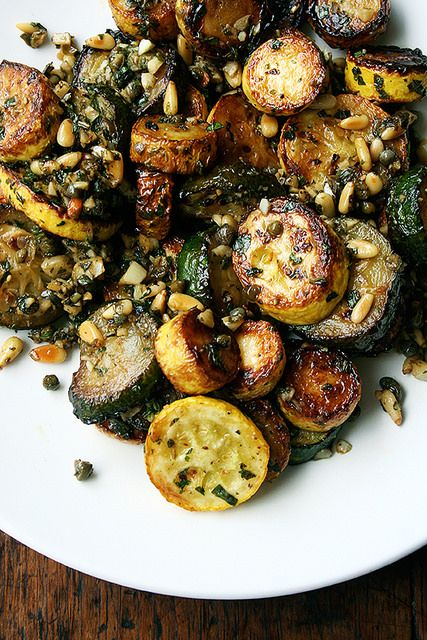 ... zucchini with mint, basil, and pine nuts by alexandracooks, via Flickr