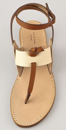 Rag and Bone - ankle wrap, t-strap