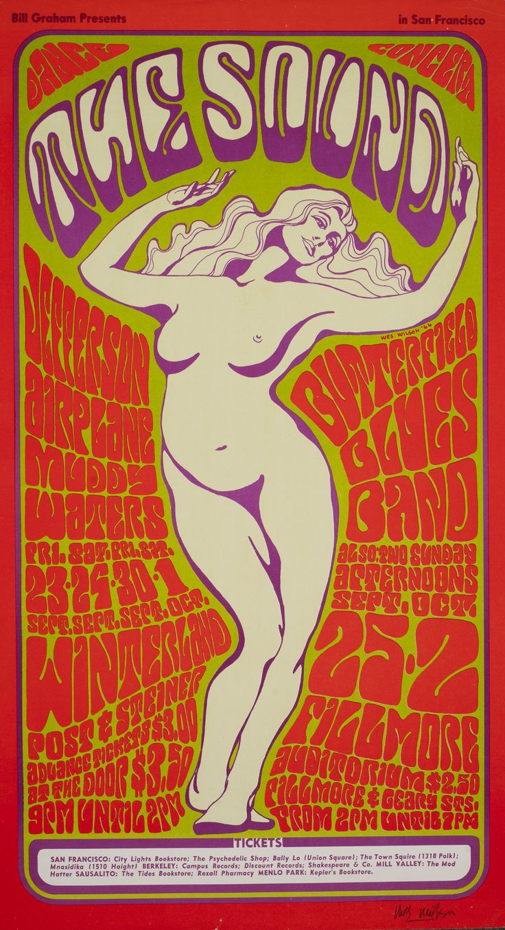Poster design 1960s - Wes Wilson Poster