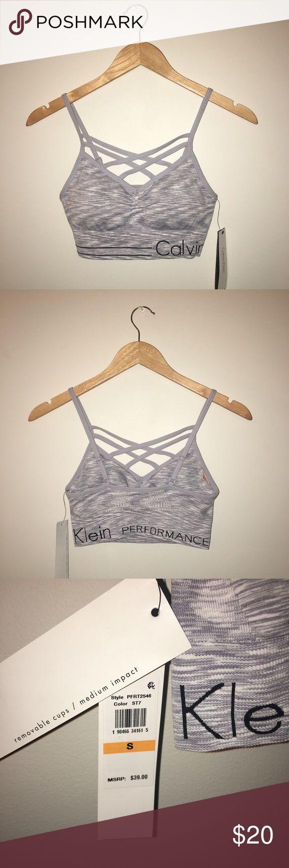 🎀sale🎀Calvin Klein sports bra Medium impact sport bra with removable pads. New with tag, never worn Calvin Klein Intimates & Sleepwear Bras