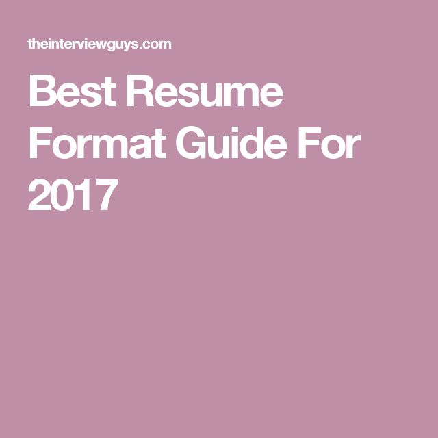 10+ Best Ideas About Best Resume Format On Pinterest | Best Cv