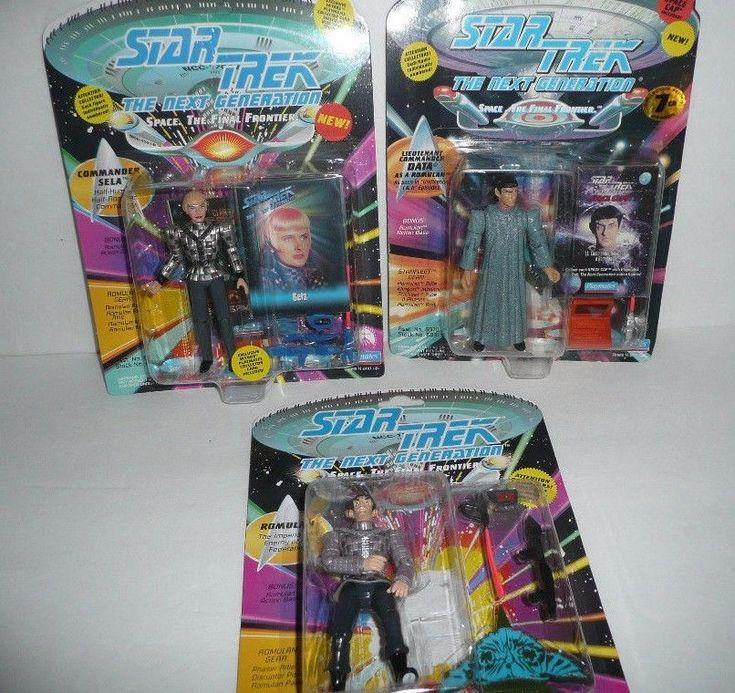 THE ROMULANS Lot of 3 Star Trek Action Figures The Next Generation Sela Data TNG #PlaymatesToys