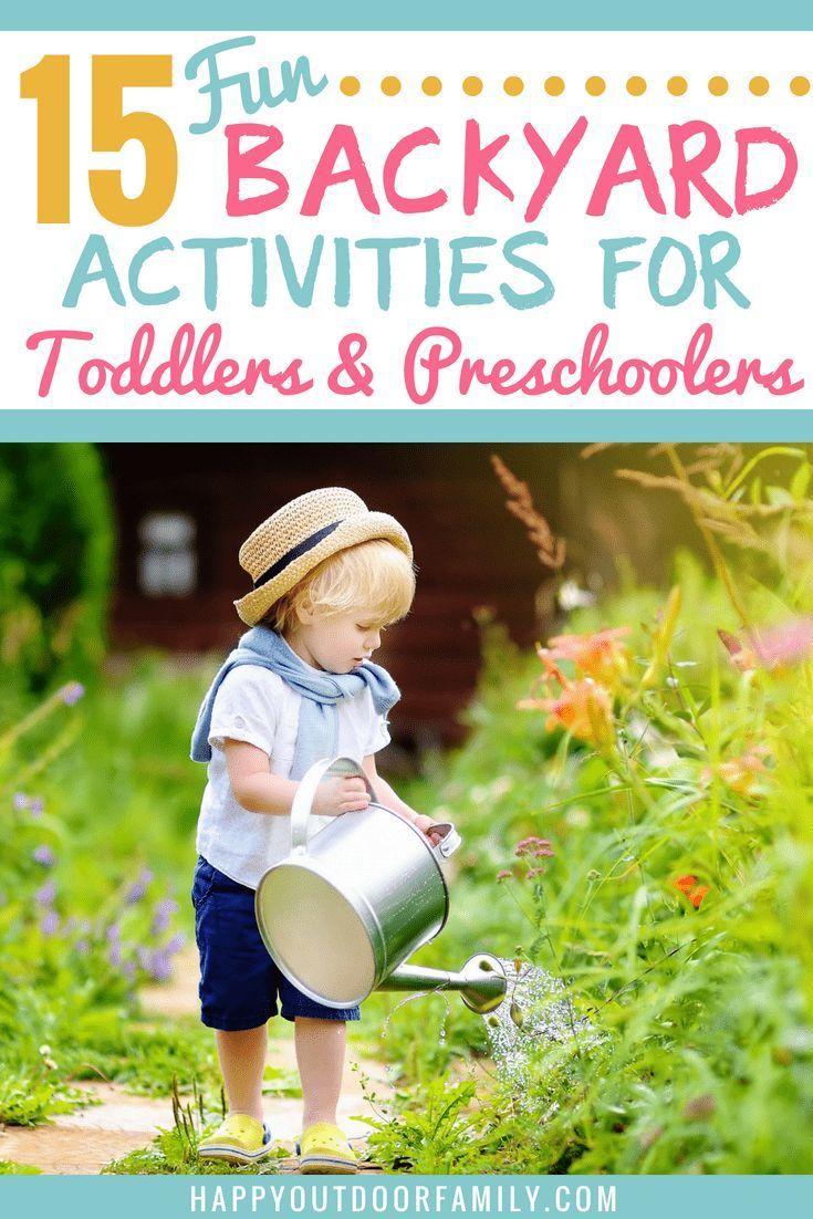 15 Fun Backyard Activities for Toddlers & Preschoolers