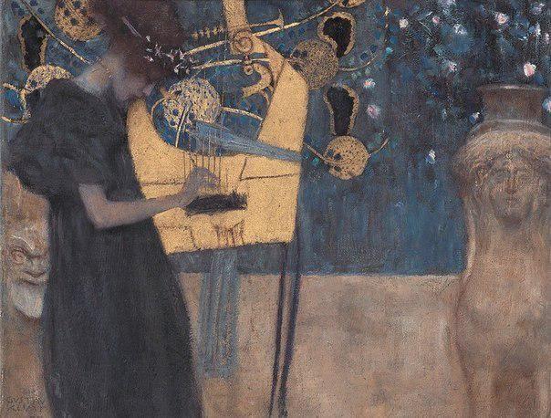 Gustav Klimt. The Music  1895
