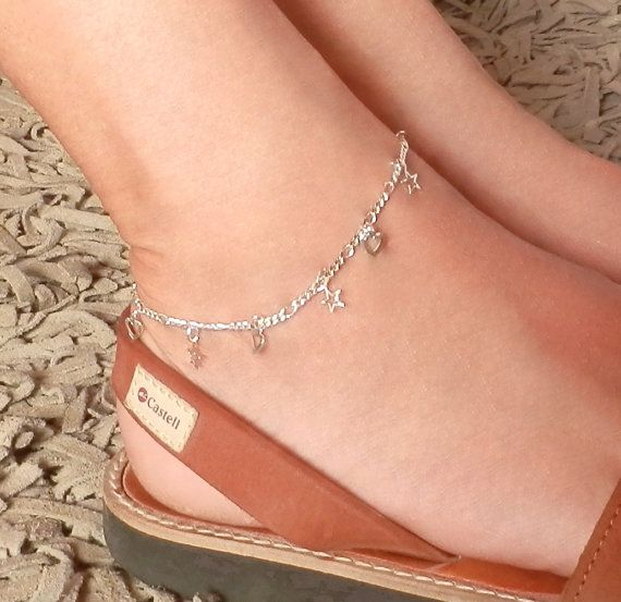 Tiny Silver Layering Anklet. Silver Plated Chain. Foot by Misstura