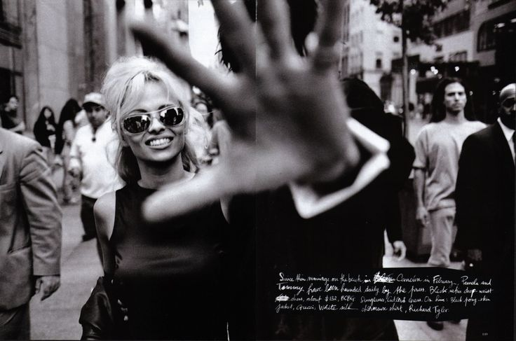 US Harper's Bazaar December 1995 Pam & The Man (Pamela Anderson & Tommy Lee) Photographed by Peter Lindbergh