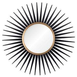 Ebony & Gold Leaf Starburst Mirror