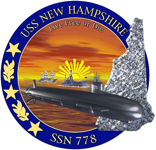 USS New Hampshire (SSN 778) ship crest - The crew has adopted FoFC as the official ship's charity organization. They have helped us out in the past and we look forward to them joining us this summer.