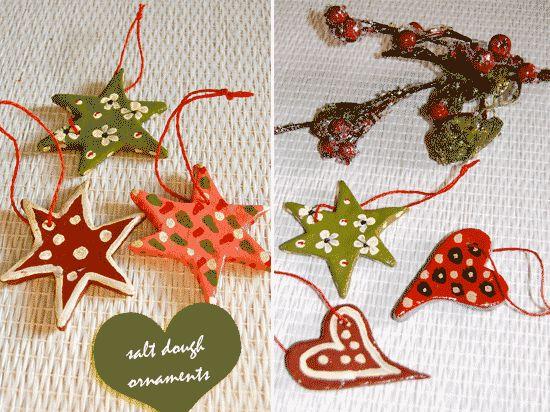 Homemade Christmas Decorations Salt Dough :