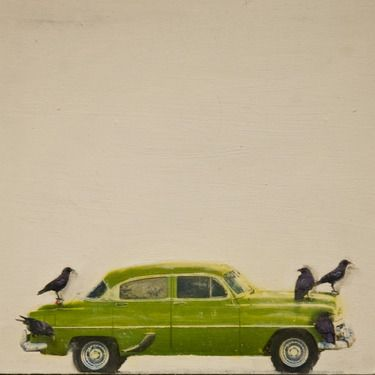 """Brian Barrer; Mixed Media, """"Hitching a ride series Cuba style"""""""