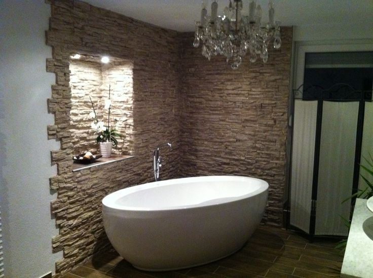 69 best wc images on Pinterest Bathroom ideas, Live and Ideas - steinwnde badezimmer